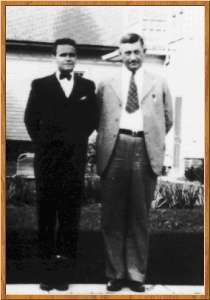 William Branham with his father-in-law Charlie Brumbach